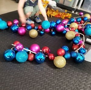 Two 6 foot Christmas ornament garlands